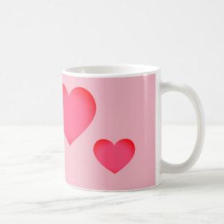 Caneca De Café Coração cor-de-rosa de Emoji