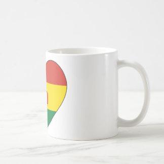 Caneca De Café Coração da bandeira de Bolívia