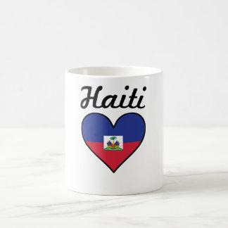 Caneca De Café Coração da bandeira de Haiti