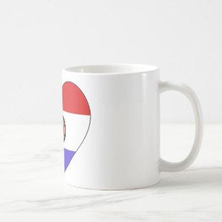 Caneca De Café Coração da bandeira de Paraguai