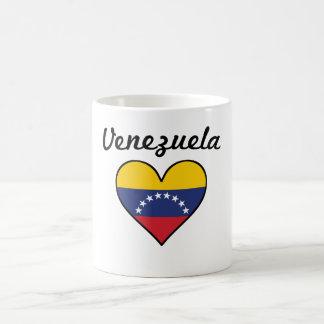 Caneca De Café Coração da bandeira de Venezuela