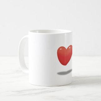 Caneca De Café Coração de flutuação, balão do coração