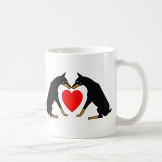 Caneca De Café Coração do Doberman