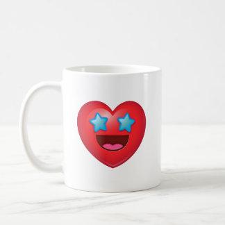 Caneca De Café Coração Eyed estrelado Emoji