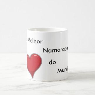 Caneca De Café coracao, Melhor Namorado do Mundo