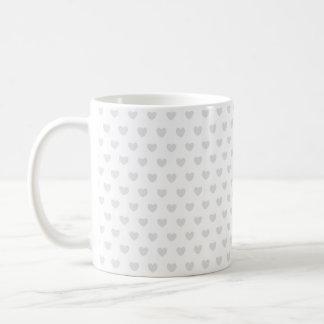 Caneca De Café Corações claros