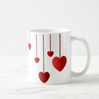 Caneca De Café Corações de suspensão