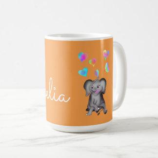 Caneca De Café Corações do elefante pelos Feliz Juul Empresa
