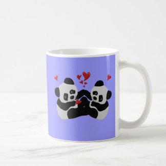 Caneca De Café Corações preciosos da panda