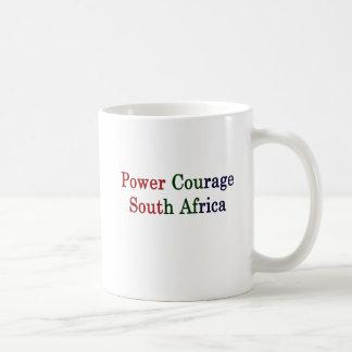 Caneca De Café Coragem África do Sul do poder