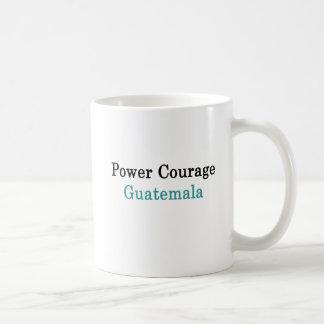 Caneca De Café Coragem Guatemala do poder