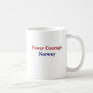 Caneca De Café Coragem Noruega do poder