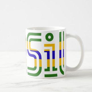 Caneca De Café Cores da bandeira de Brasil!