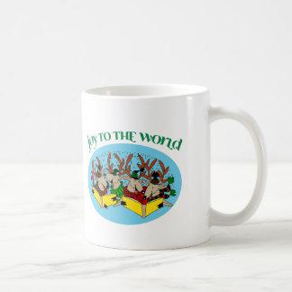 Caneca De Café Coro da rena - alegria ao mundo