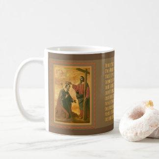Caneca De Café Coroação de St Joseph por Jesus Memorare