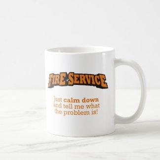 Caneca De Café Corpo de bombeiros/problema