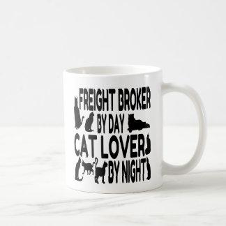 Caneca De Café Corretor do frete do amante do gato