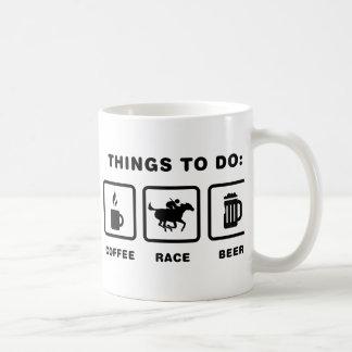 Caneca De Café Corrida de cavalos