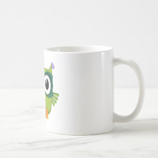 Caneca De Café coruja verde