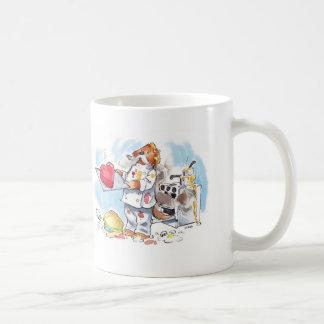 Caneca De Café cozinheiro chefe bonito da lontra dos desenhos