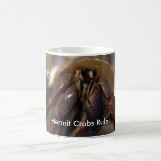 Caneca De Café crabby, regra dos caranguejos de eremita!