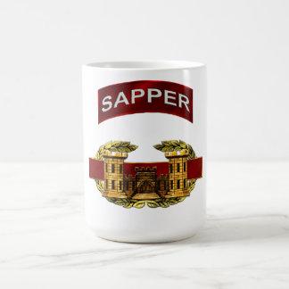 Caneca De Café Crachá do engenheiro de combate do Sapper