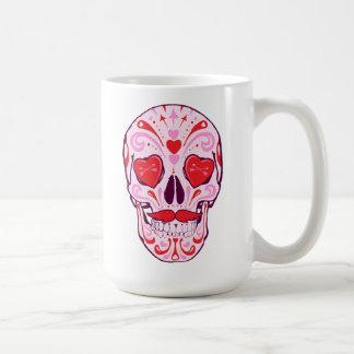 Caneca De Café Crânio do açúcar do coração