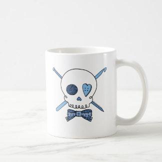 Caneca De Café Crânio do artesanato (azul)