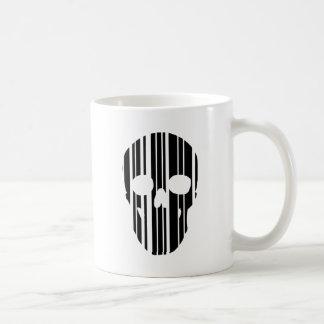 Caneca De Café Crânio do código de barras