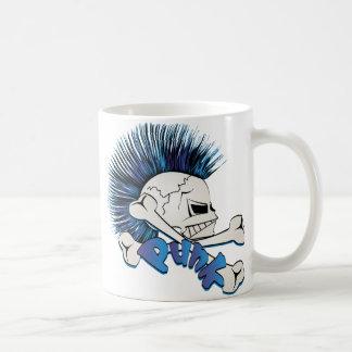 Caneca De Café Crânio do punk
