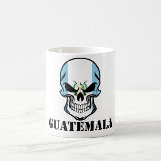 Caneca De Café Crânio guatemalteco Guatemala da bandeira