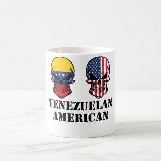 Caneca De Café Crânios venezuelanos da bandeira americana