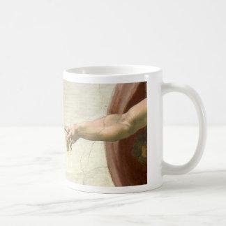 Caneca De Café Criação das mãos de Adam - Michelangelo