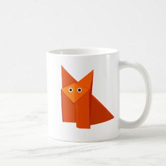 Caneca De Café Crianças bonitos do Fox de Origami