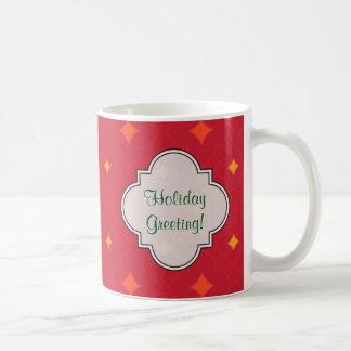 Caneca De Café Criar seu próprio feriado modelado Natal