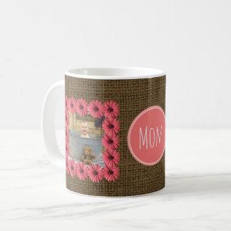 Caneca De Café Criar sua própria 2 margarida do dia das mães das