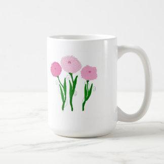 Caneca De Café Crisântemos cor-de-rosa