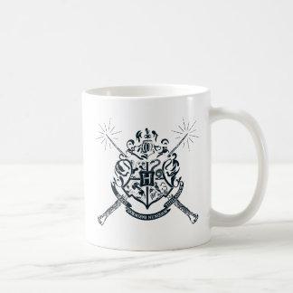 Caneca De Café Crista cruzada Hogwarts das varinhas de Harry