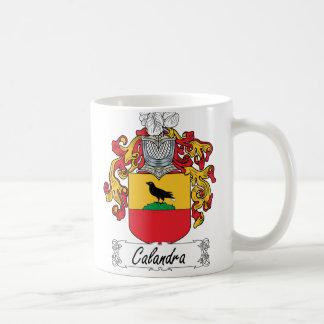 Caneca De Café Crista da família de Calandra