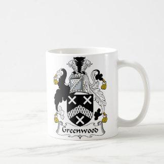 Caneca De Café Crista da família de Greenwood