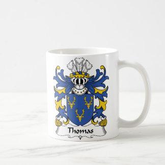 Caneca De Café Crista da família de Thomas