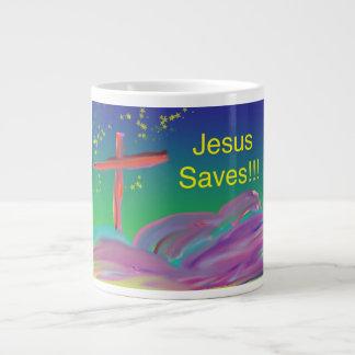 Caneca de café cristã de Jesus da igreja cura da