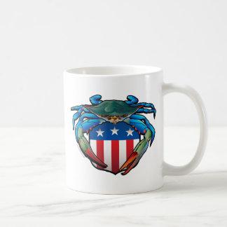 Caneca De Café Crista dos EUA do caranguejo azul