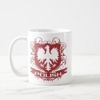 Caneca De Café Crista polonesa de Eagle