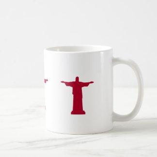 Caneca De Café Cristo a silhueta RJ do redentor
