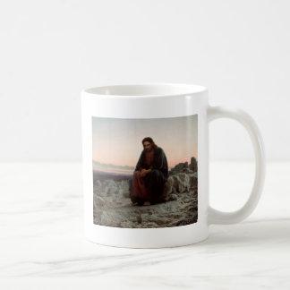 Caneca De Café Cristo na região selvagem - belas artes de Ivan