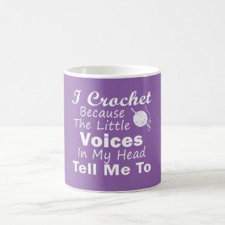 Caneca De Café Crochet porque vozes pequenas