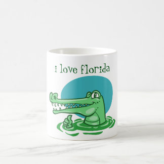 Caneca De Café crocodilo engraçado eu amo desenhos animados de