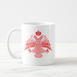 Caneca De Café Cruz bizantina & Eagle