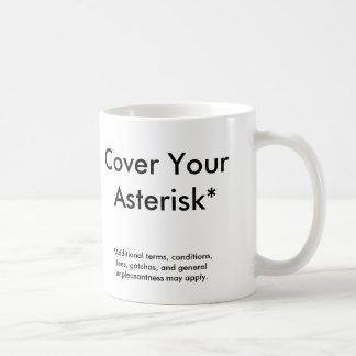 Caneca De Café Cubra seu Asterisk*